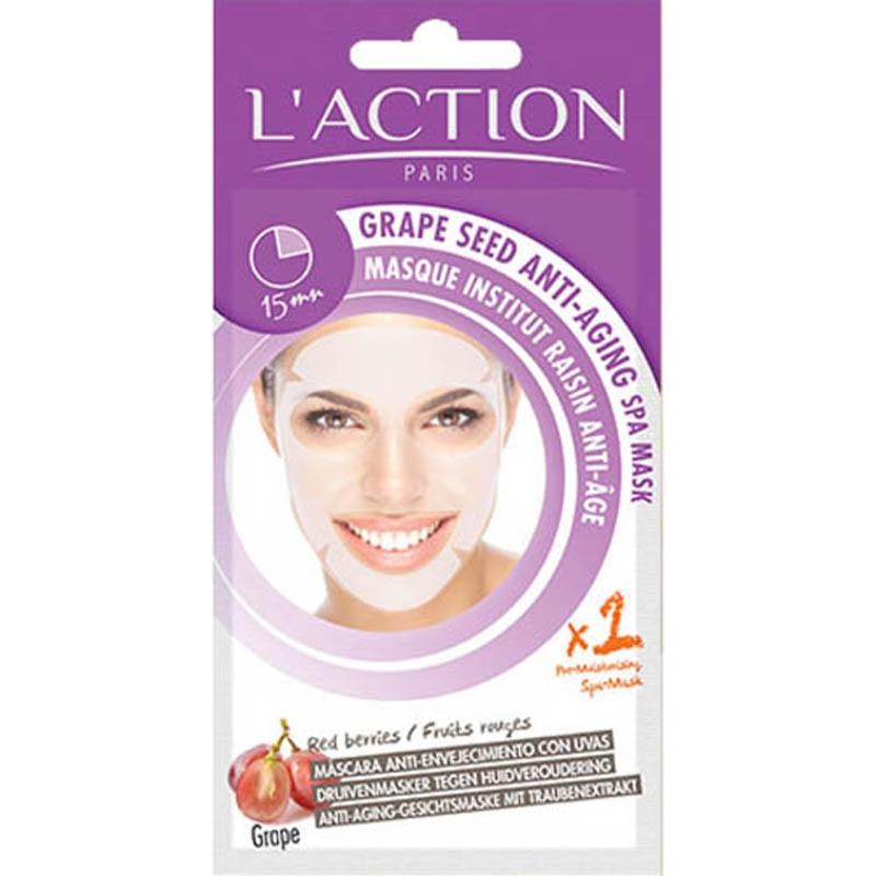 Achetez L'ACTION Masque tissu anti-âge Pépins de raisin 1 Sachet
