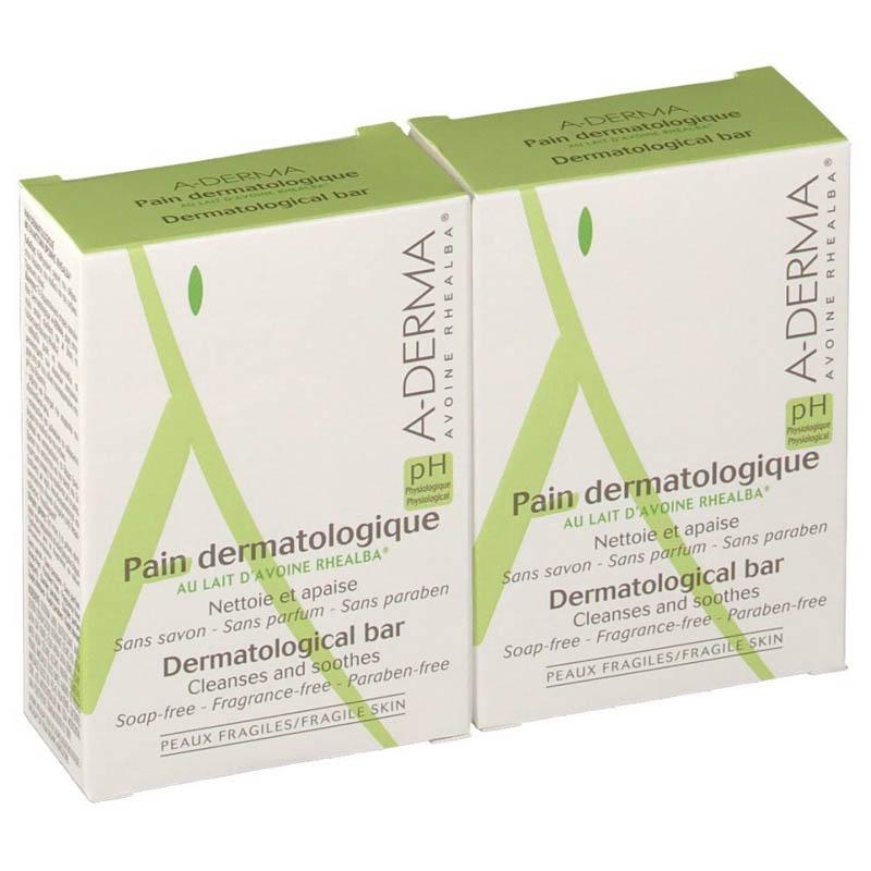 Achetez ADERMA Pain dermatologique Lait d'avoine Rhealba 2x100g