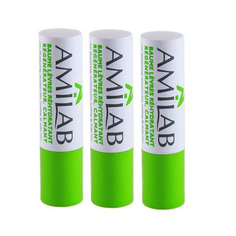 Achetez AMILAB Baume labial réhydratant calmant 3 Sticks de 3,6ml
