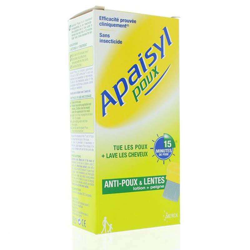 Achetez APAISYL POUX Shampooing antipoux et lente Flacon de 100ml+peigne
