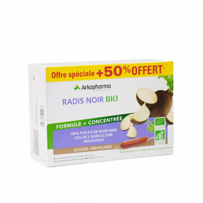 Achetez ARKO RADIS NOIR OFF SPE 20+10 Ampoule BIO