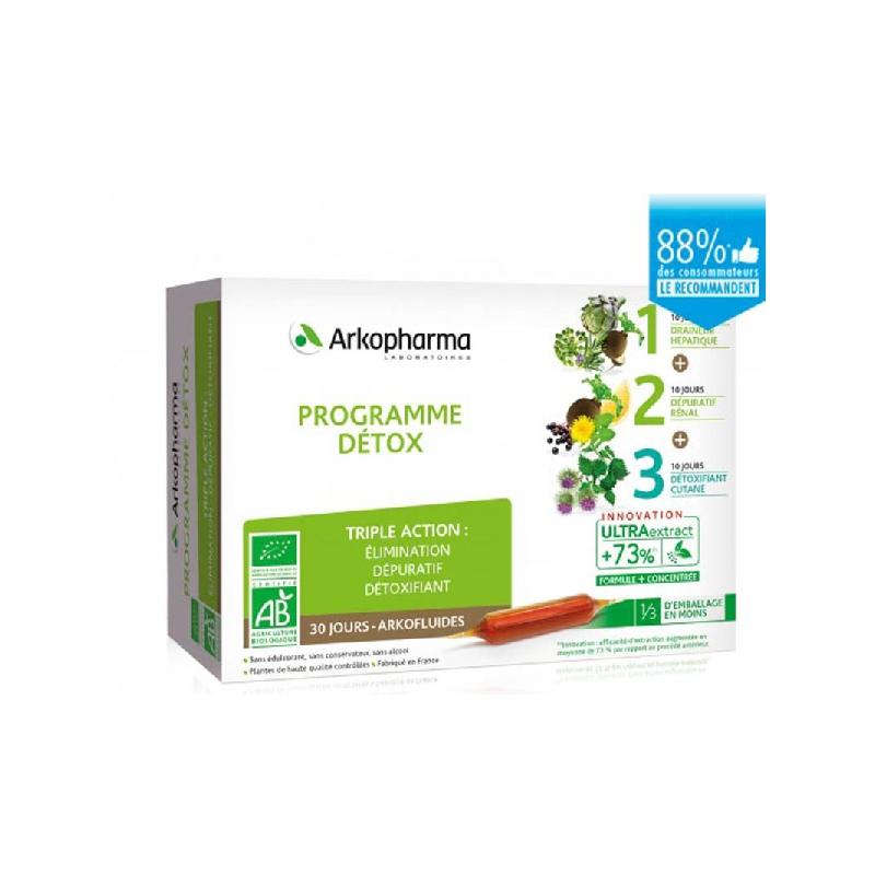 Achetez ARKOFLUIDE BIO ULTRAEXTRACT Coffret programme détox 3x10 Ampoule de 10ml