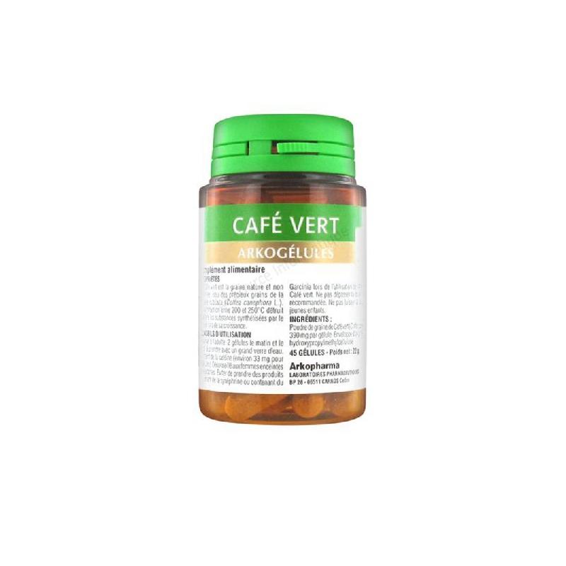 Achetez ARKOGELULES Café vert Gélule Flacon de 45