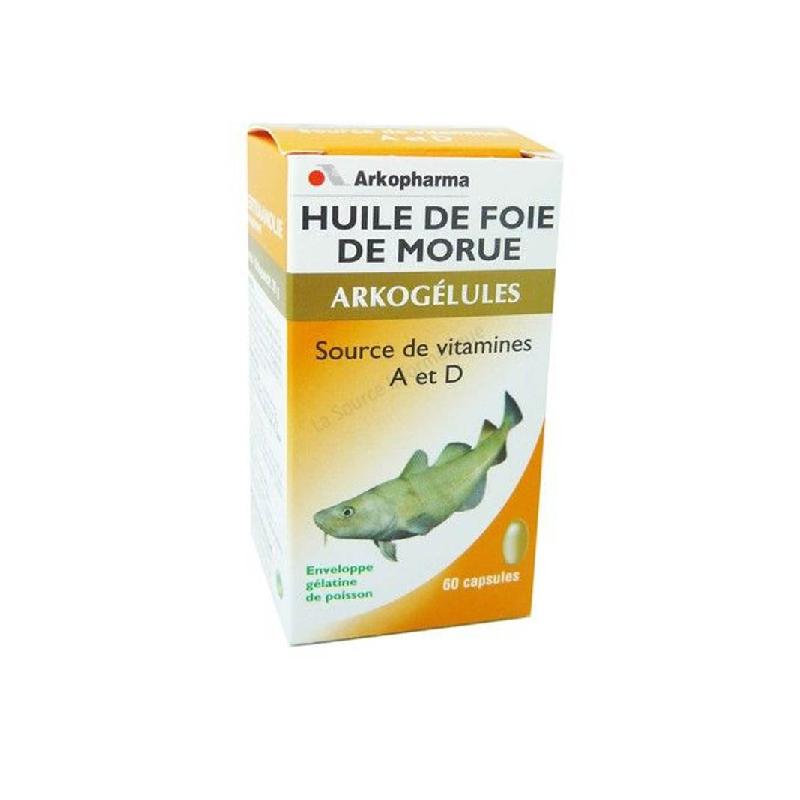 Achetez ARKOGELULES Huile de foie de morue Capsule Flacon de 60