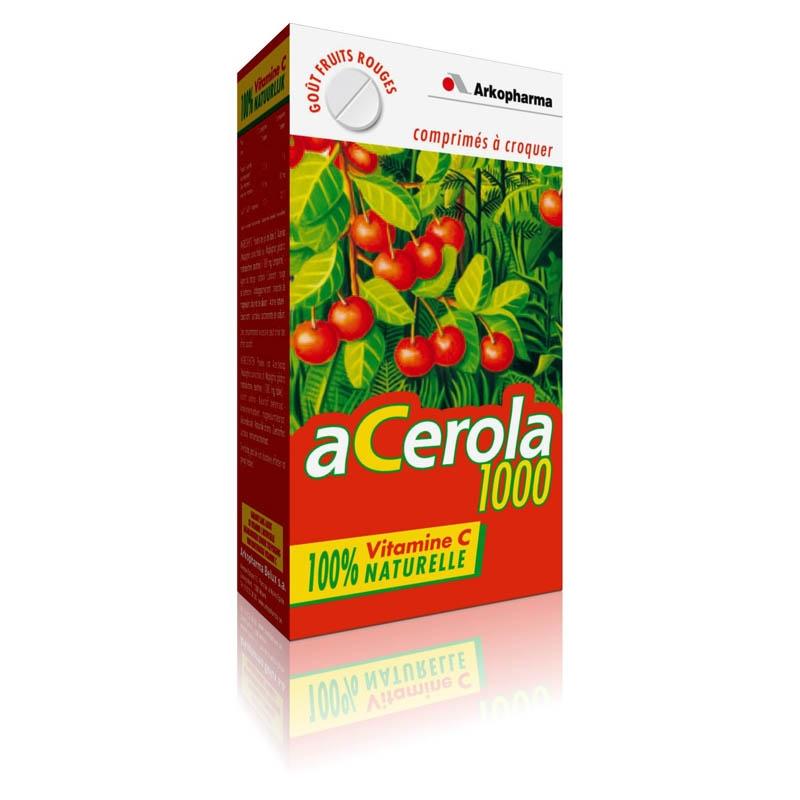 Achetez ARKOVITAL ACEROLA 1000 Comprimé à croquer Boîte de 30