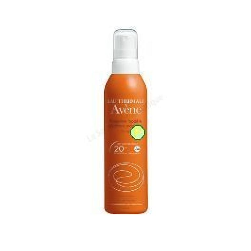 Achetez AVENE SOLAIRE SPF20 Spray protection modérée flacon 200 ml
