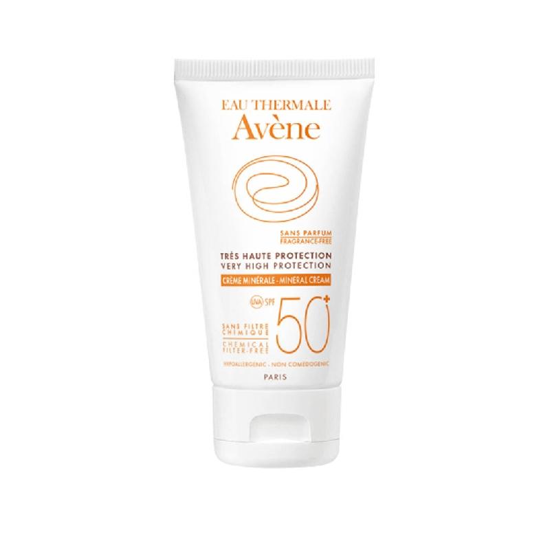 Achetez AVENE SOLAIRE SPF50+ MINERAL Crème haute protection Tube de 50ml