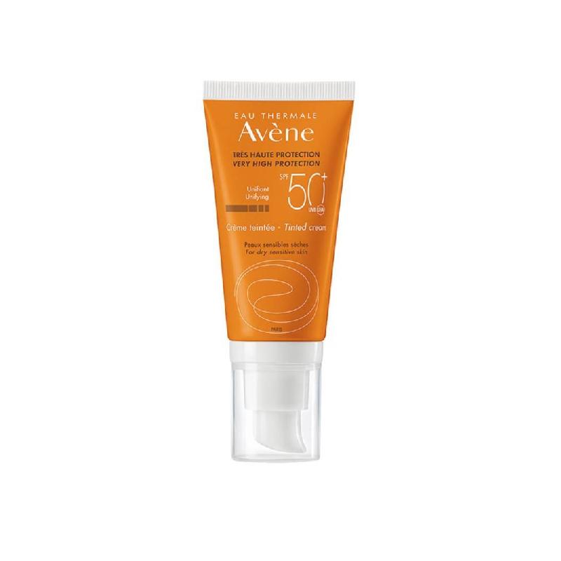 Achetez AVENE SOLAIRE SPF50+ Crème très haute protection teintée  Tube Pompe de 50ml