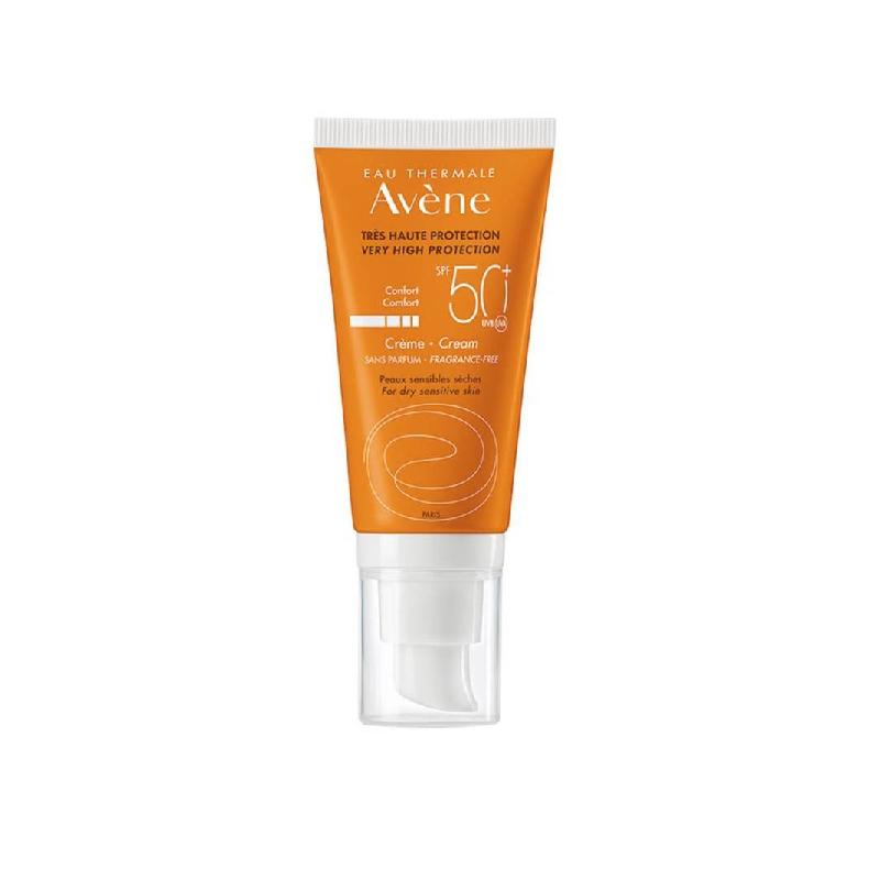 Achetez AVENE SOLAIRE SPF50+ Crème sans parfum très haute protection Tube de 50ml