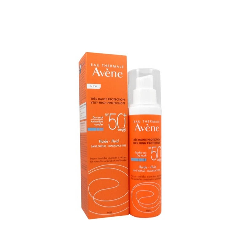 Achetez AVENE SOLAIRE SPF50+ Fluide sans parfum Tube de 50ml