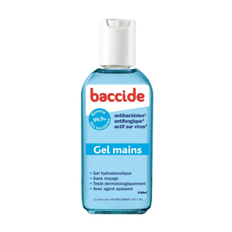 Achetez BACCIDE Gel mains désinfectant sans rinçage Flacon de 100ml