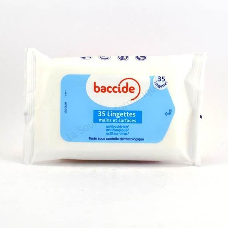 Achetez BACCIDE Lingette désinfectante mains & surface Pack de 35