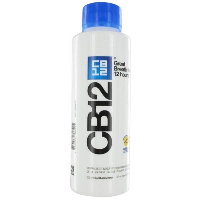 Achetez CB 12 Bain bouche menthe sans alcool flacon 500 ml