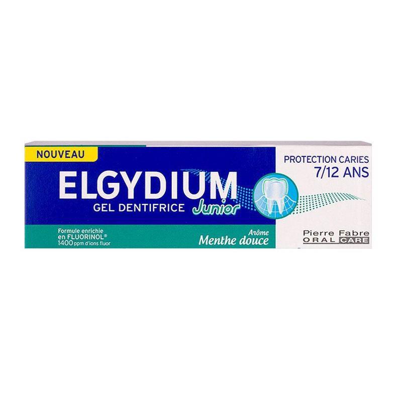 Achetez ELGYDIUM JUNIOR PROTECTION CARIES Dentifrice menthe douce 7-12 Ans Tube de 50ml