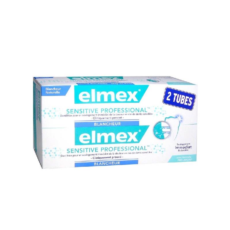 Achetez ELMEX SENSITIVE PROFESSIONAL BLANCHEUR Pâte dentifrice 2 Tube de 75ml