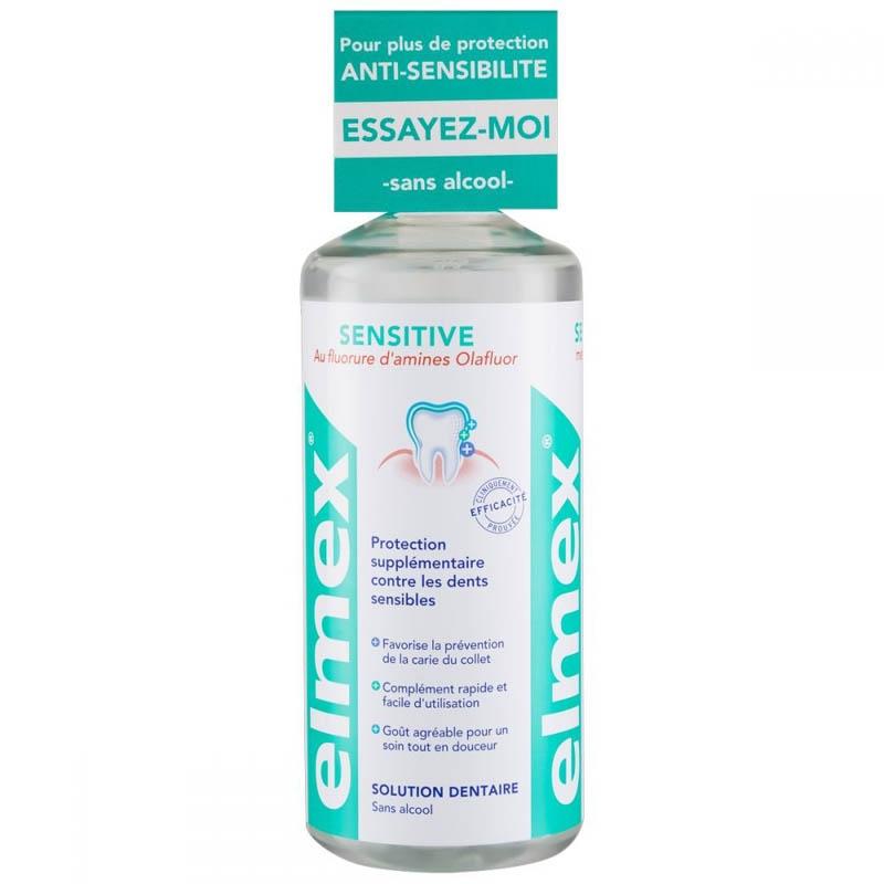 Achetez ELMEX SENSITIVE Solution Dentaire flacon 400 ml+colerette