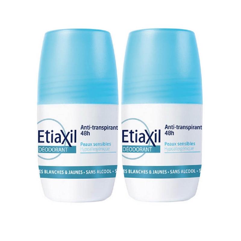 Achetez ETIAXIL ANTITRANSPIRANT Déodorant 48H 2 Roll-on de 50ml