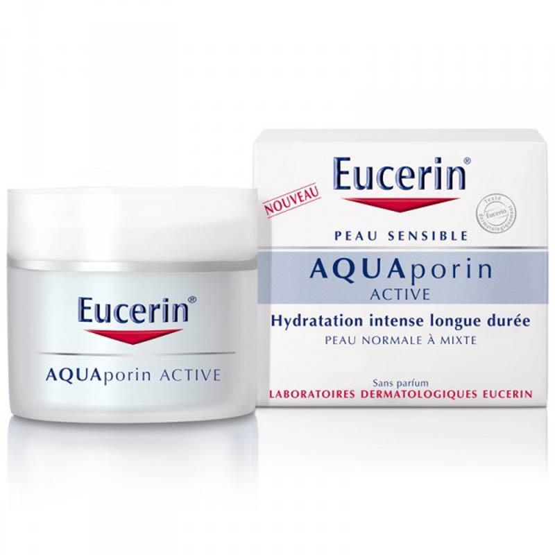 Achetez EUCERIN AQUAPORIN ACTIVE Emulsion soin hydratant peau normale à mixte Pot de 50ml