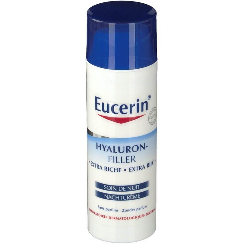 Achetez EUCERIN HYALURON-FILLER EXTRA RICHE Emulsion soin anti-rides de nuit Flacon Pompe de 50ml