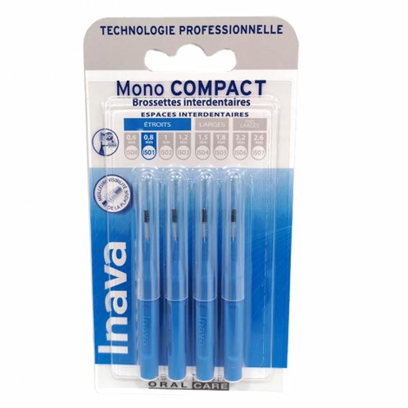 Achetez INAVA MONO COMPACT Brossette bleu Blister de 4