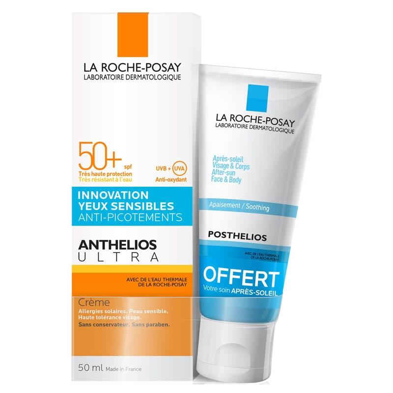 Achetez LA ROCHE-POSAY ANTHELIOS SPF50+ Crème hydratante visage avec parfum Tube de 50ml+mini Posthelios