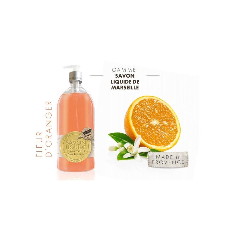 Achetez LES PETITS BAINS DE PROVENCE Savon Liquide fleur d'oranger Flacon Pompe de 1l