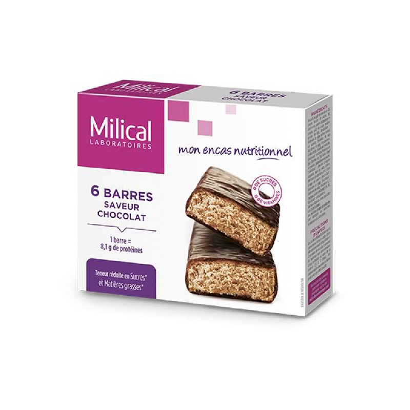 Achetez MILICAL HYPERPROTEINE Barre chocolat Etui de 6