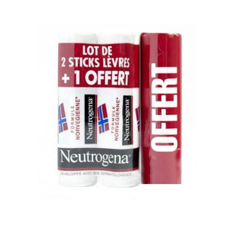 Achetez NEUTROGENA Stick à lèvres 3 Tube de 4,8g