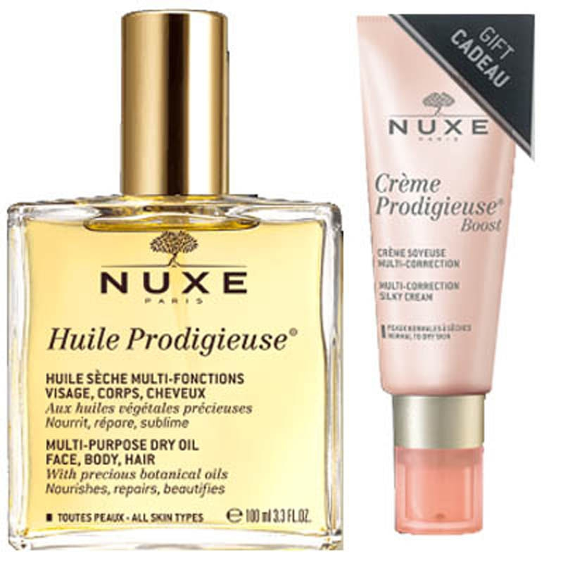 Achetez NUXE Huile prodigieuse Flacon de 100ml+Crème boost light