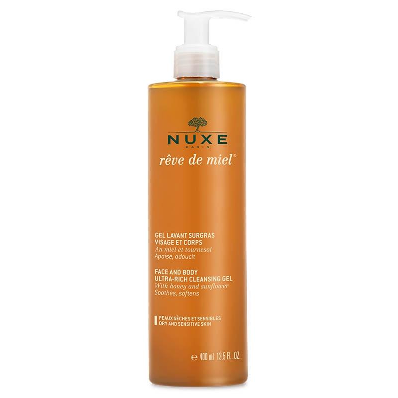 Achetez NUXE REVE DE MIEL Gel lavant surgras visage corps Flacon Pompe de 400ml