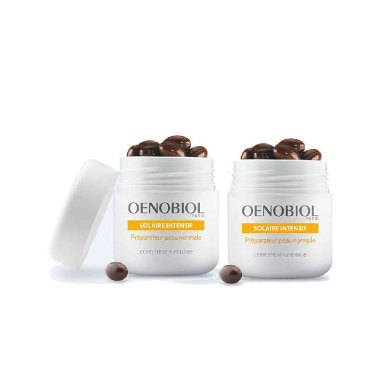 Achetez OENOBIOL SOLAIRE INTENSIF Capsule peau normale 2 Pots de 30