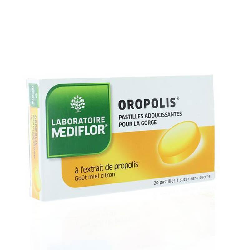 Achetez OROPOLIS Pastille sans sucre adoucissante miel citron Boîte de 20