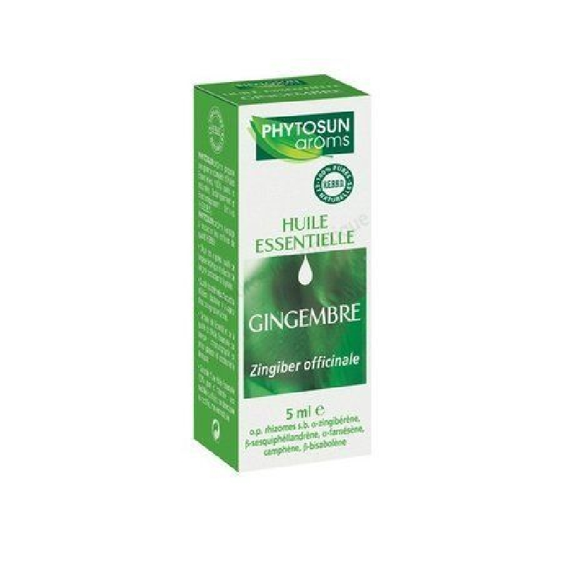 Achetez PHYTOSUN AROMS Huile essentielle Gingembre Flacon de 5ml