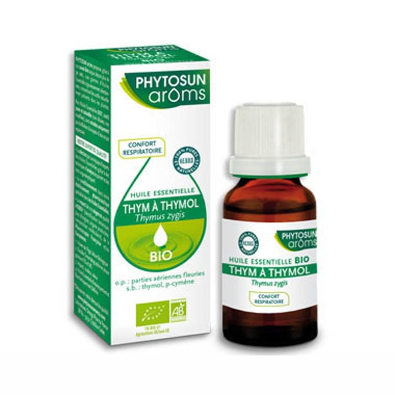 Achetez PHYTOSUN AROMS Huile essentielle bio Thym à Thymol Flacon de 10ml