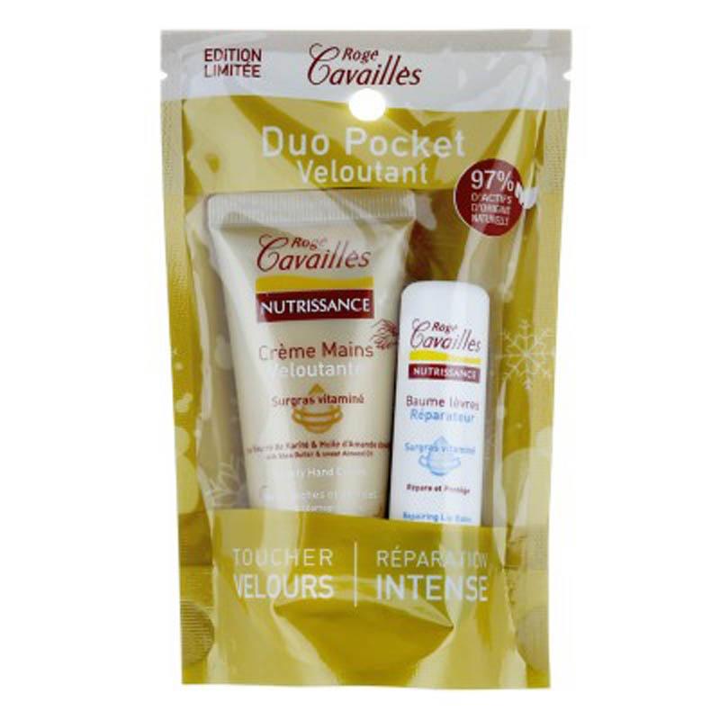 Achetez ROGE CAVAILLES NUTRISSANCE Crème mains nourrissante Tube de 30ml+Stick lèvres