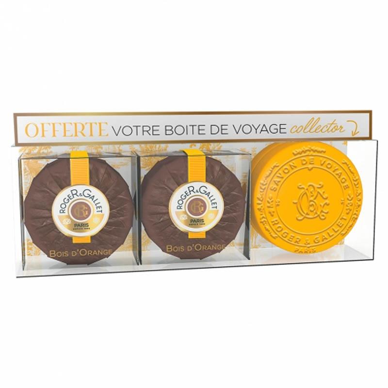 Achetez ROGER GALLET BOIS D'ORANGE Savon frais Coffret par 2 de 100g+B collector
