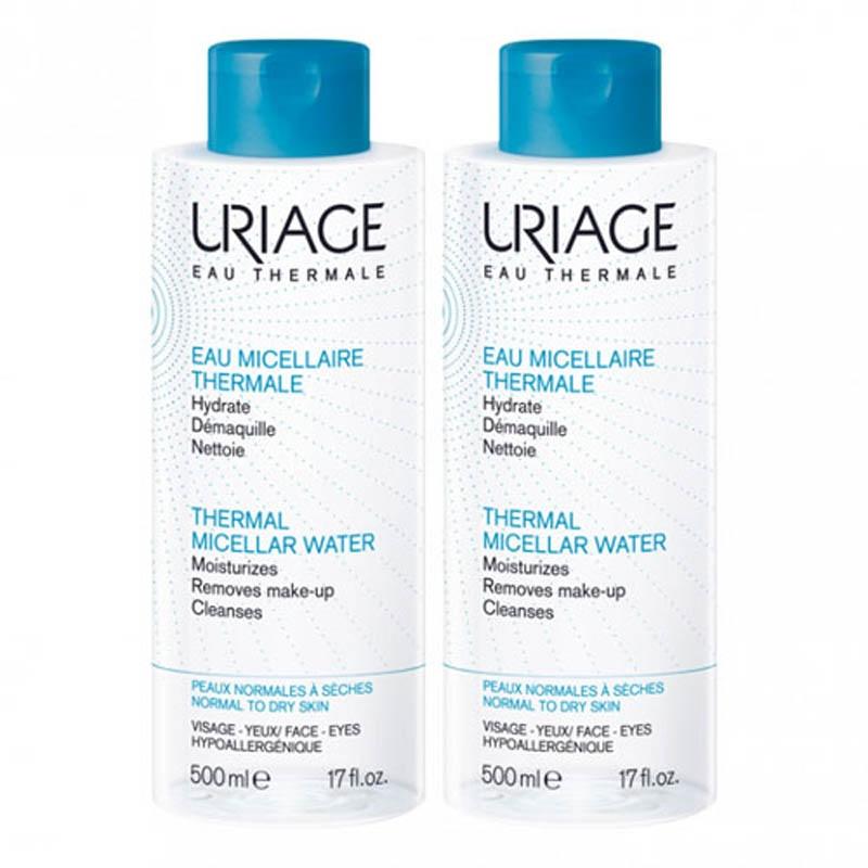 Achetez URIAGE Eau micellaire thermale peau normale à sèche 2 flacon 500 ml
