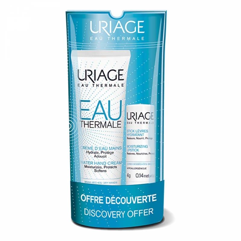 Achetez URIAGE EAU THERMALE Crème d'eau mains Tube de 30ml+Stick lèvres