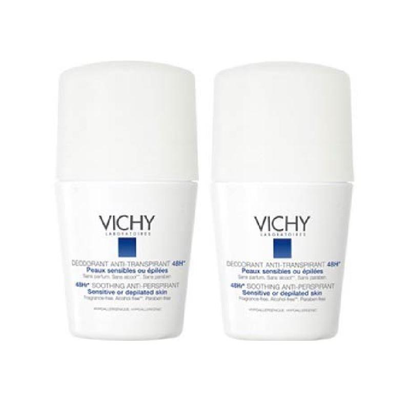 Achetez VICHY Déodorant peau sensible 48H 2 Billes de 50ml
