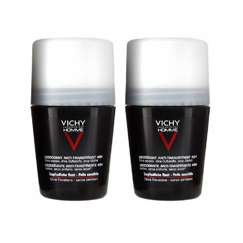 Achetez VICHY HOMME Déodorant 72H anti-trace 2 Billes de 50ml