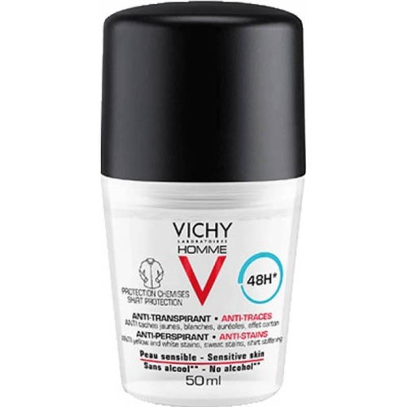 Achetez VICHY HOMME Déodorant anti-transpirant anti trace 48H Bille de 50ml