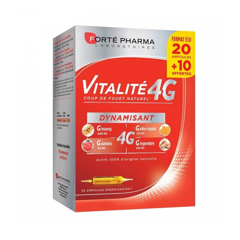 VITALITE 4G DYNAMISANT Solution Buvable 30 Ampoule de 10ml
